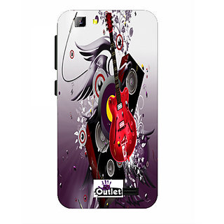 HI5OUTLET Premium Quality Printed Back Case Cover For Lyf Wind 5 Design Alpha 80