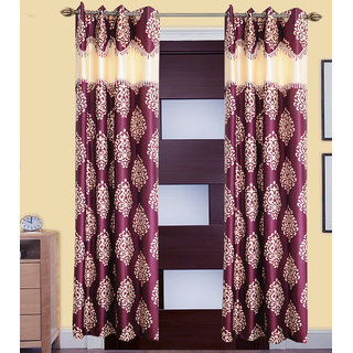 GauravCurtains Polyester Multicolor Printed 7x4 Feet Door Curtain  (Pack of 2)