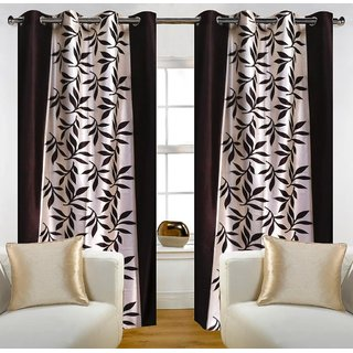Story@Home Brown 1 pc Door curtain-7 feet(DTA1203-S)