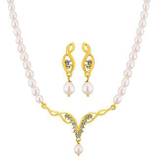 Sri Jagdamba Pearls  Glint Pearl Pendant  Set