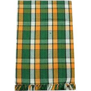 Tidy Cotton Bath Towel (Bath Towel 1 Piece, Green, Orange)
