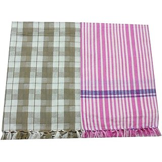 Tidy Cotton Bath Towel (Bath Towel 2Pcs, Multi)