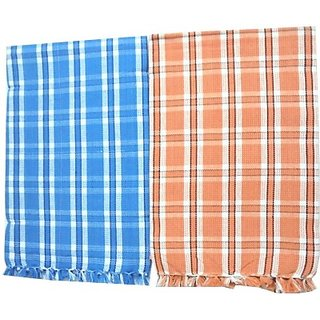 Tidy Cotton Bath Towel (Bath Towel 2Pcs, Multi Colour)