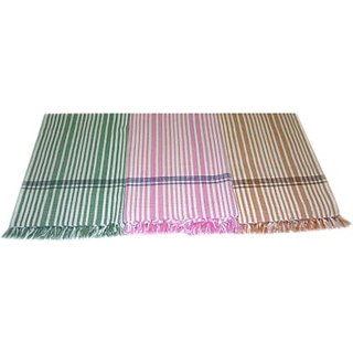 Tidy Cotton Bath Towel Set (Bath Towel 3 Piece, Multicolour)