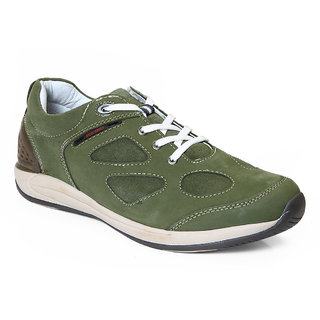 Red Chief Olive Men Outdoor Casual Leather Shoes (RC2094 014)
