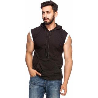 Demokrazy Men's Black Round Neck T-Shirt