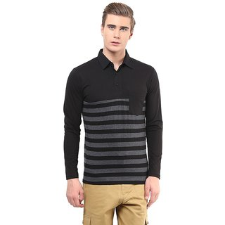 Hypernation Striped Mens Polo Neck T-shirt
