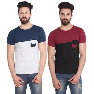 Stylogue Mens Casual Tshirt (Pack Of 2)