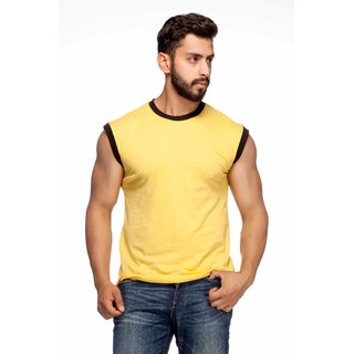 4e25a3eb263c Buy Demokrazy Men's Yellow Round Neck T-Shirt Online - Get 56% Off