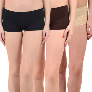 Chileelife Sports Shorts Combo - Pack Of 3 (Black,Black,Brown)