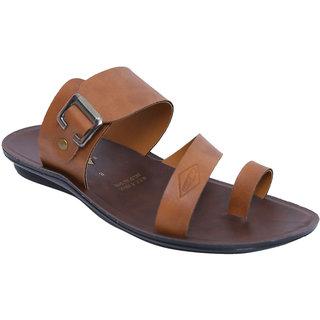 Wego Pk1827 MenS Tan Slippers