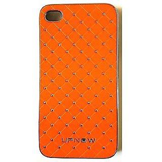 Back Cover DIR4001 for Apple 4s (Orange Silver)