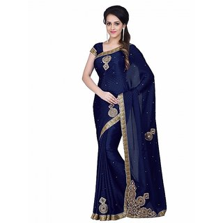 SS Multicolor  Cotton  Printed Saree With Blouse