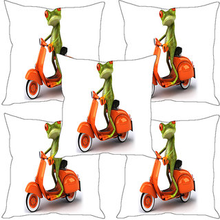 Sleep NatureS Frog Printed Cushion Covers Set Of Five