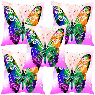 Sleep NatureS Butterfly Painting Printed Cushion Covers Set Of Five
