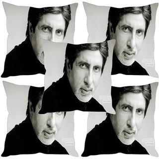 Sleep NatureS Amitabh Bachchan Printed Cushion Covers Set Of Five