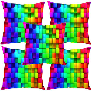Sleep NatureS Square Printed Cushion Covers Set Of Five