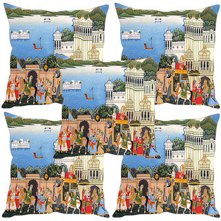 Sleep NatureS Kings Palace Printed Cushion Covers Set Of Five