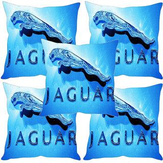 Sleep NatureS Jaguar Printed Cushion Covers Set Of Five