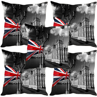 Sleep NatureS England Scene Printed Cushion Covers Set Of Five