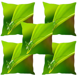 Sleep NatureS Grasshopper Printed Cushion Covers Set Of Five