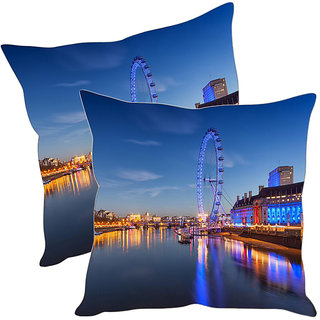 Sleep NatureS City Printed Cushion Covers Pack Of 2