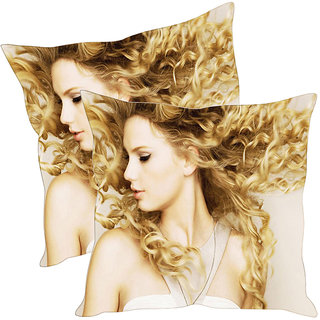 Sleep NatureS Girl Printed Cushion Covers Pack Of 2