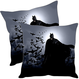 Sleep NatureS Batman Printed Cushion Covers Pack Of 2