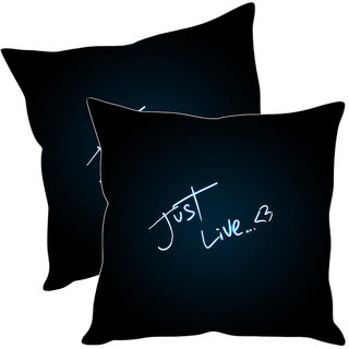 Sleep NatureS Just Live Printed Cushion Covers Pack Of 2