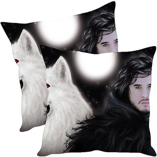 Sleep NatureS Wolf Printed Cushion Covers Pack Of 2