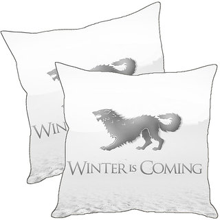 Sleep NatureS Winter Is Coming Printed Cushion Covers Pack Of 2
