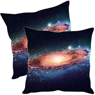 Sleep NatureS Galaxy Printed Cushion Covers Pack Of 2