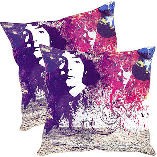 Sleep NatureS Abstract Painting Printed Cushion Covers Pack Of 2