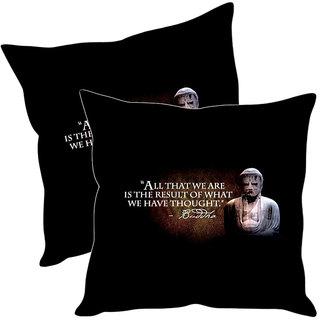 Sleep NatureS Buddha Printed Cushion Covers Pack Of 2