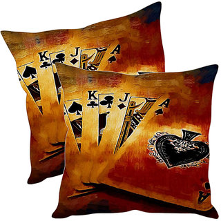 Sleep NatureS Cards Printed Cushion Covers Pack Of 2