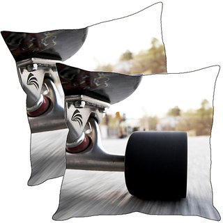 Sleep NatureS Racing Car Printed Cushion Covers Pack Of 2