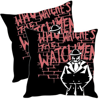 Sleep NatureS Watch Men Printed Cushion Covers Pack Of 2