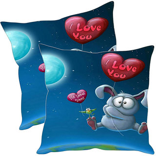 Sleep NatureS I Love You Printed Cushion Covers Pack Of 2