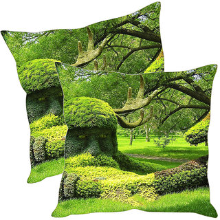 Sleep NatureS Abstract Art Printed Cushion Covers Pack Of 2