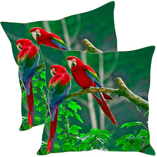 Sleep NatureS Birds Printed Cushion Covers Pack Of 2
