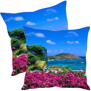 Sleep NatureS Nature Printed Cushion Covers Pack Of 2