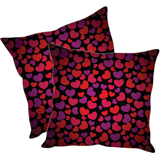 Sleep NatureS Heart Printed Cushion Covers Pack Of 2