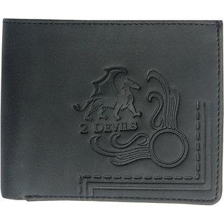 2 Devils Black Formal Wallet For Men