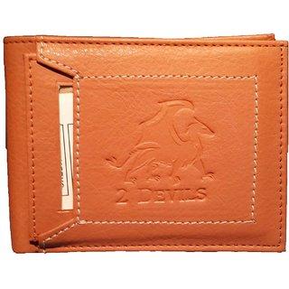 2 Devils Brown Regular Wallet For Men
