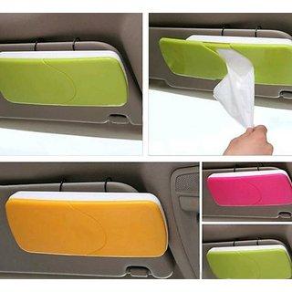 Car Sun Visor Sun-Shading Board car Tissue Box With Clip