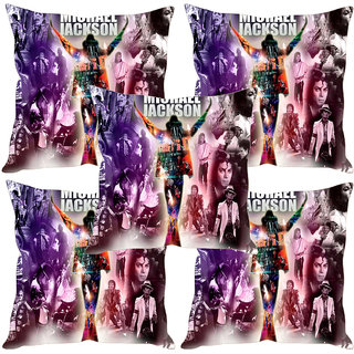 Sleep NatureS Michael Jackson Poster Printed Cushion Covers Set Of Five