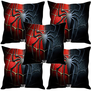 Sleep NatureS Spider Man Printed Cushion Covers Set Of Five