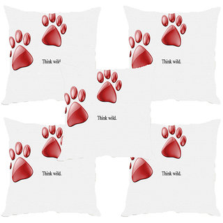 Sleep NatureS Wild Printed Cushion Covers Set Of Five