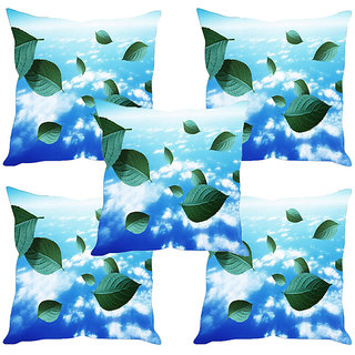 Sleep NatureS Leaves Printed Cushion Covers Set Of Five