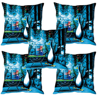 Sleep NatureS Windows Logo Printed Cushion Covers Set Of Five